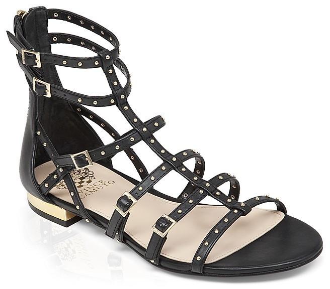 9f2bfee5b36 ... Vince Camuto Flat Gladiator Sandals Hevelli Studded ...