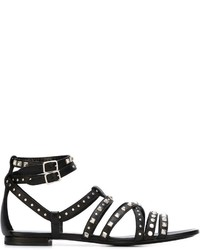 Saint laurent stud embellished sandals medium 743464