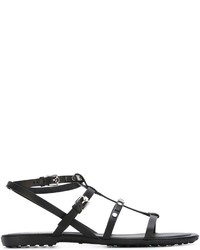 Tod's Studded Strappy Flat Sandals