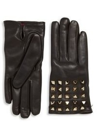 Valentino Garavani All Over Studs Leather Gloves