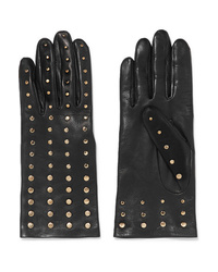 Agnelle Studded Leather Gloves