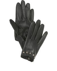 Carolina Amato Studded Short Leather Gloves