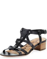 Sam Edelman Angela Studded T Strap Sandal Black