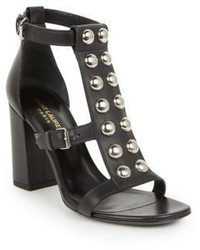 Saint Laurent Babies Studded Leather Sandals