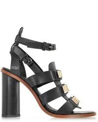 Proenza Schouler Black Studded Gladiator Sandal