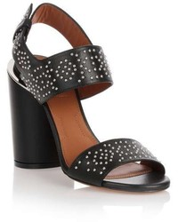 Givenchy Black Studded Leather Sandal