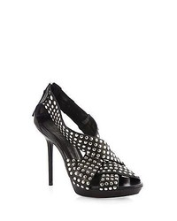 Burberry Brit Rhythm Studded Leather Sandals Black