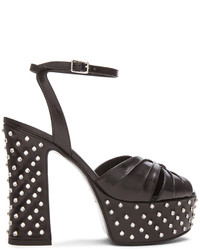 Saint Laurent Candy Crystal Studded Leather Platform Sandals