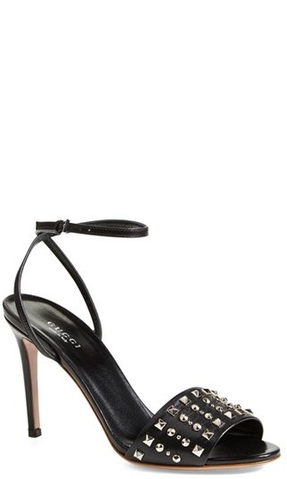 211f3fbe2 Gucci Coline Studded Ankle Strap Sandal