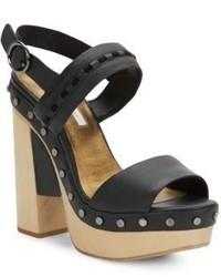 Cynthia Vincent Potent Studded Leather Platform Sandals