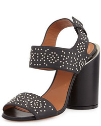 Givenchy Edgy Studded Two Band Sandal Black