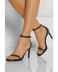 dba4a02730a ... Saint Laurent Jane Studded Leather Sandals