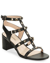 Karl Lagerfeld Paris Honore Studded Leather Gladiator Sandals