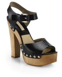 Michael Kors Michl Kors Annabell Studded Leather Platform Sandals