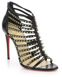 Christian Louboutin Millaclou Studded Leather Cage Sandals