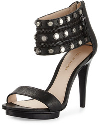 Pelle Moda Naya Studded Leather Sandal Black
