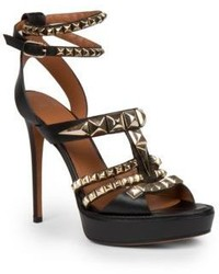 Givenchy Nevia Studded Leather Platform Sandals