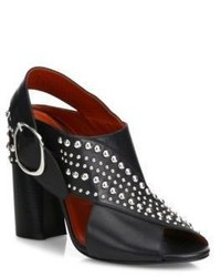 3.1 Phillip Lim Patsy Studded Crisscross Leather Block Heel Slingback Sandals