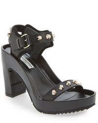 Balenciaga Studded Leather Platform Sandal