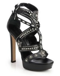 Alexander McQueen Studded Leather Platform Sandals