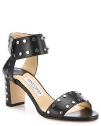 Jimmy Choo Veto 65 Studded Leather Block Heel Sandals