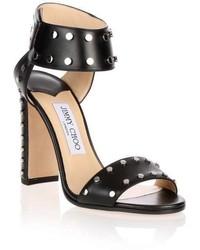 Jimmy Choo Veto Silver Studded Sandal