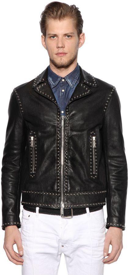 Clearance Genuine Big Discount Cheap Online studded biker jacket - Black Dsquared2 Discount Purchase mjxySM