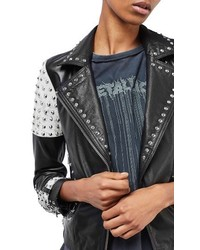 Topshop Maddox Studded Leather Jacket