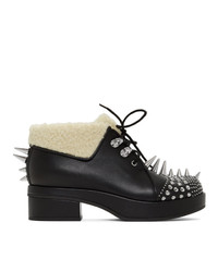 Gucci Black Sherpa Spike Victor Boots