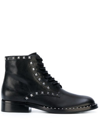 Ash Studded Lace Up Ankle Boots