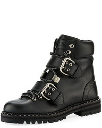 Jimmy Choo Breeze Flat Studded Leather Hiking Boot