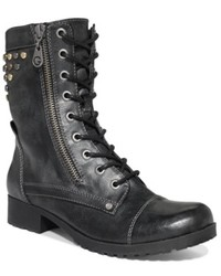 G by Guess Blast Studded Combat Booties Shoes