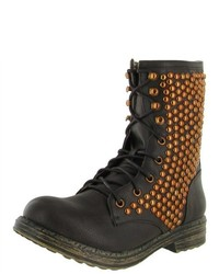Hot Fashion Ryanne 01xx Combat Boot Studded Motorcycle