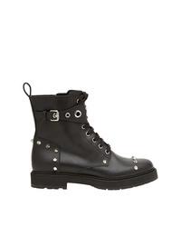 Fendi Lace Up Studded Boots