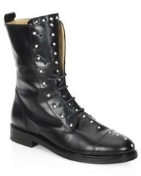 Rangy studded leather combat boots medium 4414597