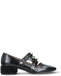 Toga Pulla Embellished Leather Heeled Loafers