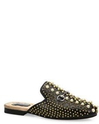 Gucci Princetown Studded Leather Loafer Slides
