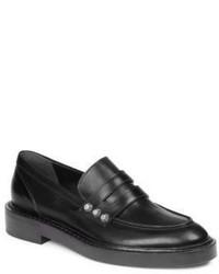 Balenciaga Studded Leather Loafers