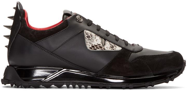 timeless design 70c2f 5a57f $900, Fendi Black Monster Eyes Sneakers