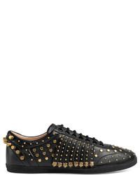 ... Gucci Studded Fringe Leather Sneaker