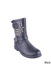 Reneeze Crown 04 Studded Mid Calf Motorcycle Boots