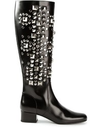 Saint Laurent Babies Studded Boots