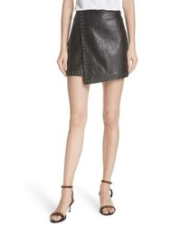 Joie Orlanda Studded Leather Miniskirt