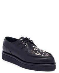 Valentino studded leather oxfords medium 4395786