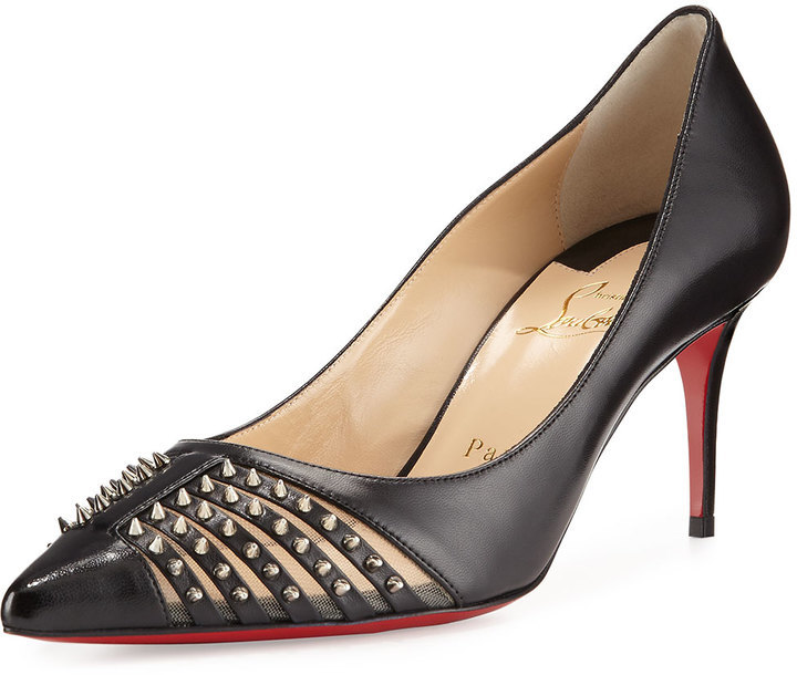 buy online 33056 e680d $895, Christian Louboutin Baretta Studded 70mm Red Sole Pump Black
