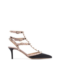 Valentino Black And Beige 65 Py Leather Pumps