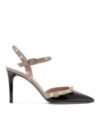 Valentino Black Garavani Patent Slingback Heels