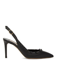 Valentino Black Garavani Slingback Heels