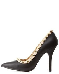 Charlotte Russe Wild Diva Lounge Studded Pointed Toe Pumps