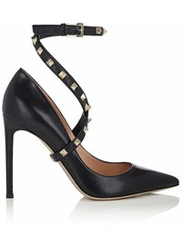 Valentino Garavani Rockstud Leather Wraparound Strap Pumps